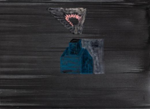 Faustův dům, 2021, olej, plátno, 16.800,-Kč