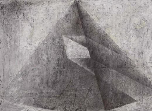 kombinovaná technika na papíře, 106×74 cm, 1991-1992