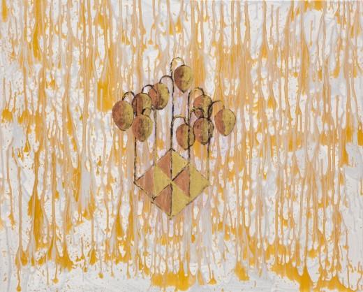 Jahody I, 2020, olej, plátno, 15.000,-Kč